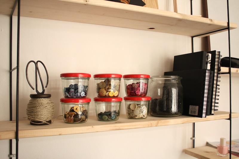 Gläser als Knopfaufbewahrung - www.craftifair.com