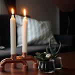 Easy DIY Kerzenständer aus Kupferrohreb