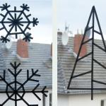 Weihnachtliche DIY Fensterdeko aus Maskingtape