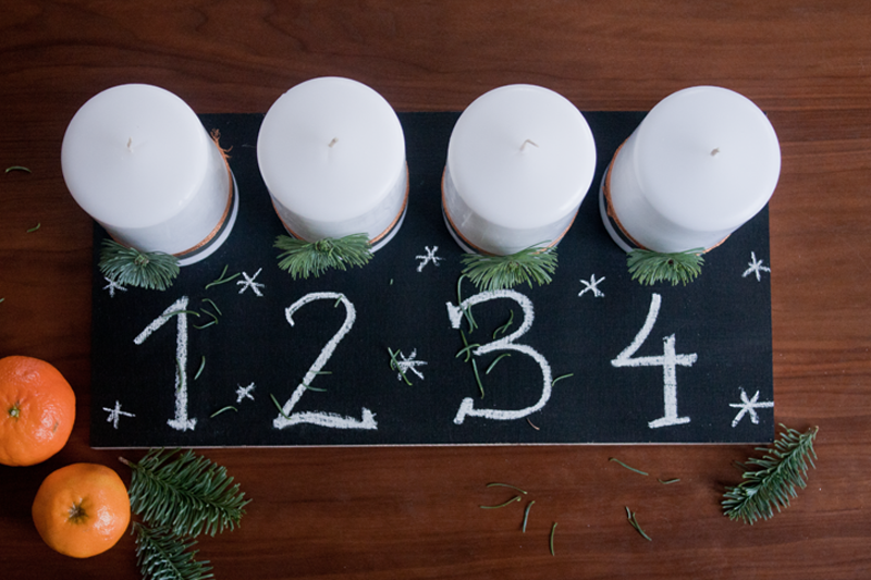 Last Minute DIY Adventskranz