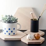 DIY: Hexagon Untersetzer aus Holz