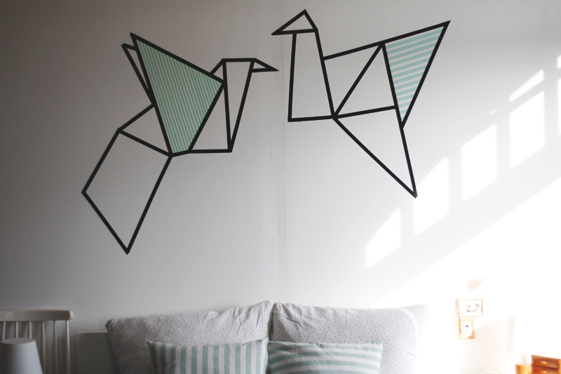 DIY wallart with masking tape - www.craftifair.de