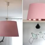 DIY Lampenschirm in Pastellrosa und Kupfer