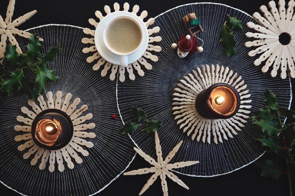 dezente weihnachtsdeko oder untersetzer ? diy holzsterne | craftifair - Diy Weihnachtsdeko