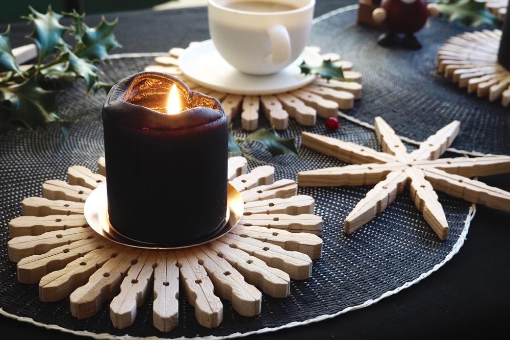 dezente weihnachtsdeko oder untersetzer diy holzsterne craftifair. Black Bedroom Furniture Sets. Home Design Ideas