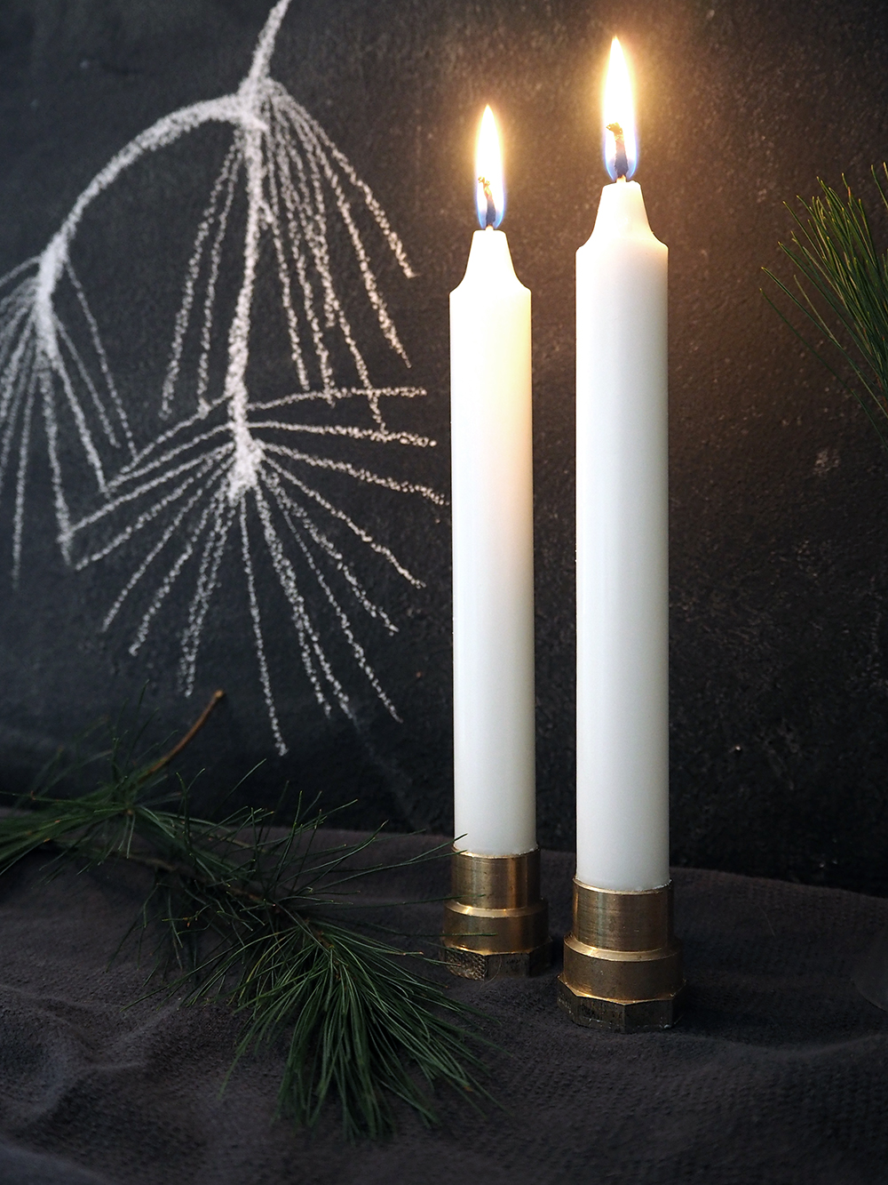 DIY Kerzenständer aus dem Baumarkt - www.craftifair.com