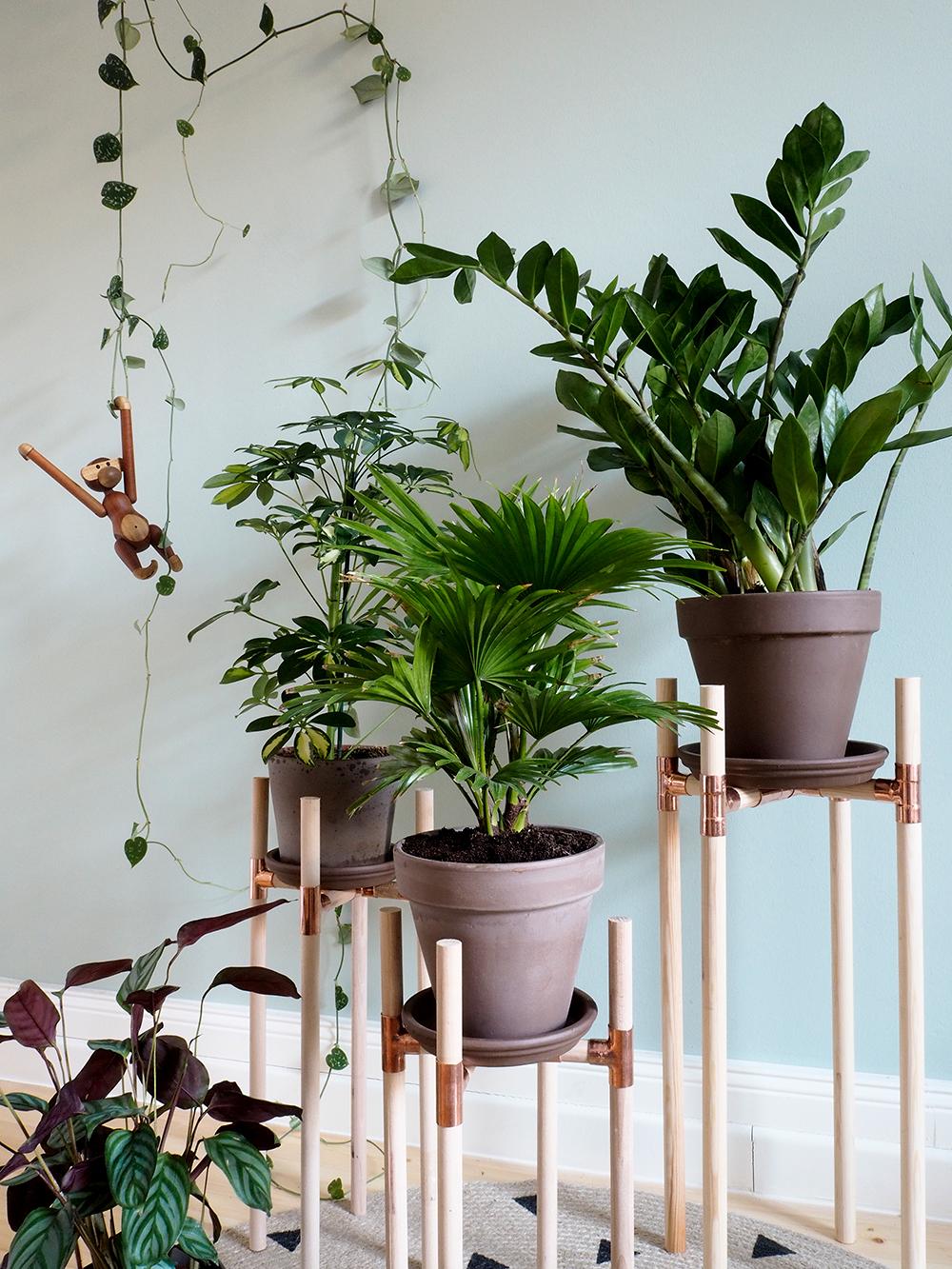 DIY Pflanzenständer aus Kupfer und Holz - www.craftifair.de