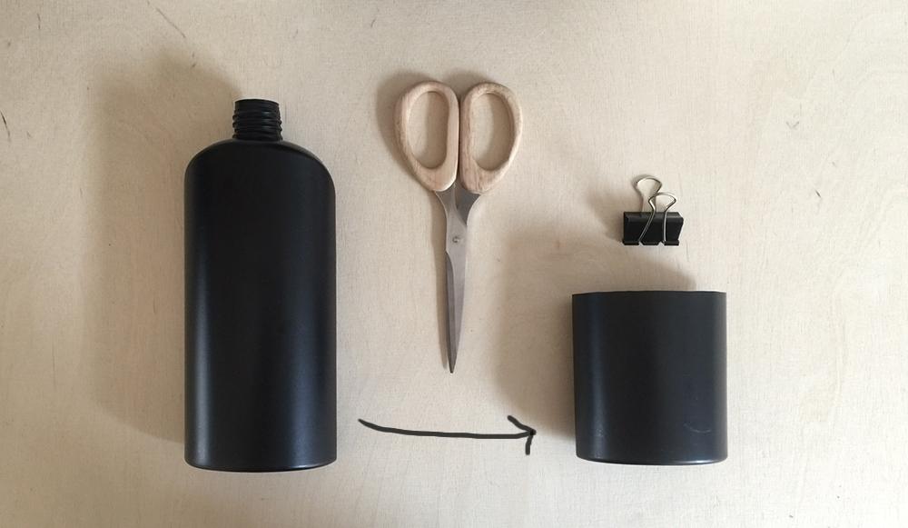 DIY Schreibtisch Organizer aus Shampooflasche - www.craftifair.com