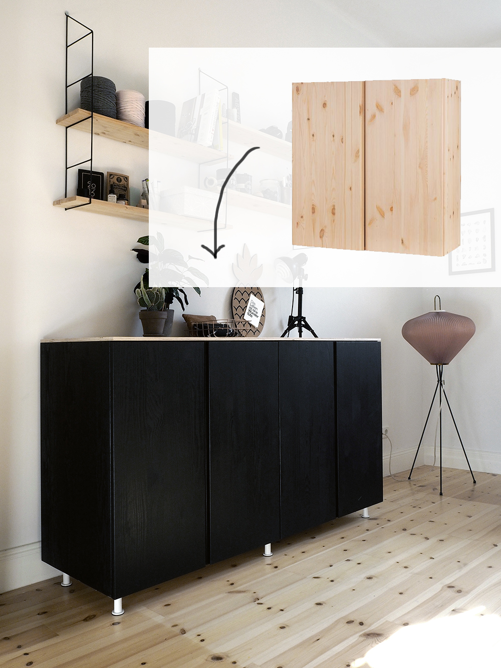 ikea hack wie du aus ivar schr nken ein cooles sideboard. Black Bedroom Furniture Sets. Home Design Ideas