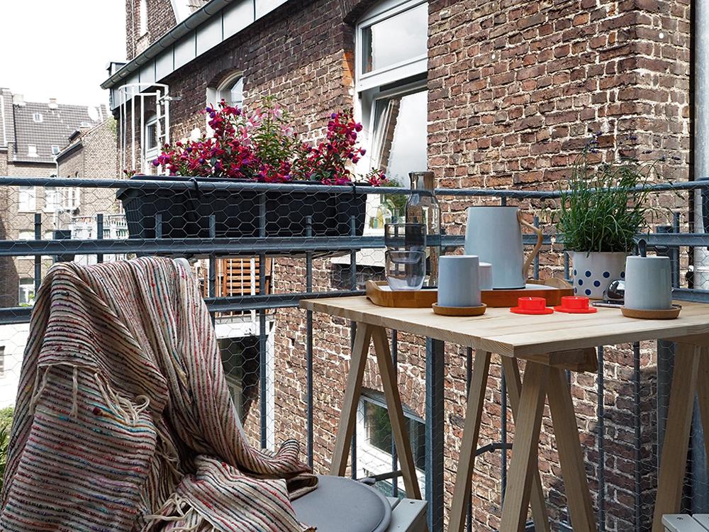 Kleiner Balkon in der Stadt - www.craftifair.de