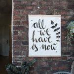 Kunst für den Balkon – ein DIY Outdoorposter