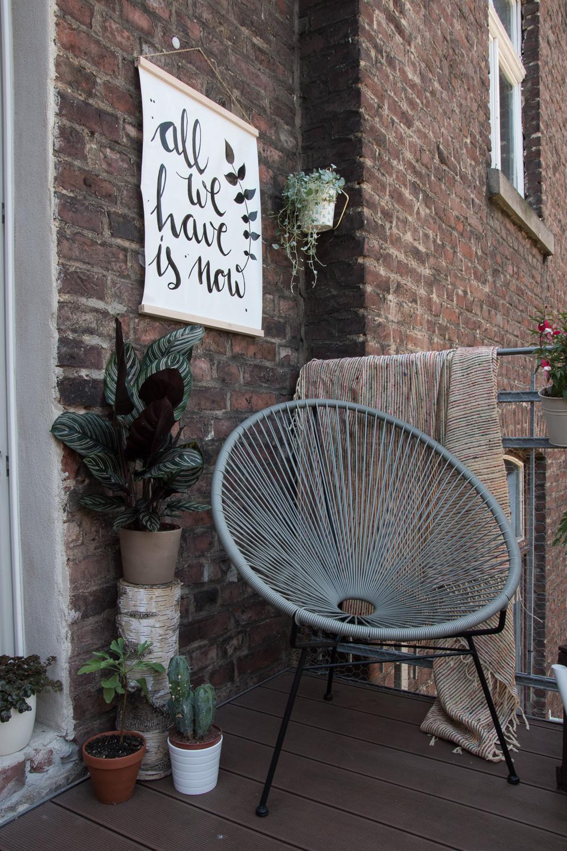 Kunst für den Balkon - DIY Outdoorposter / www.craftifair.de