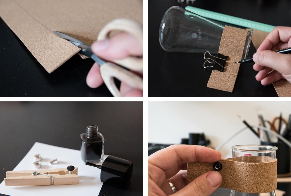 DIY vase with cork - www.craftifair.de