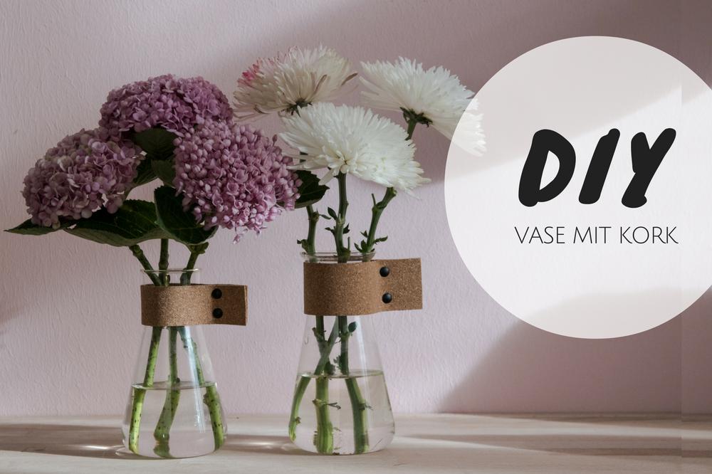 Super easy DIY Vase aus einem Erlenmeyerkolben und Kork
