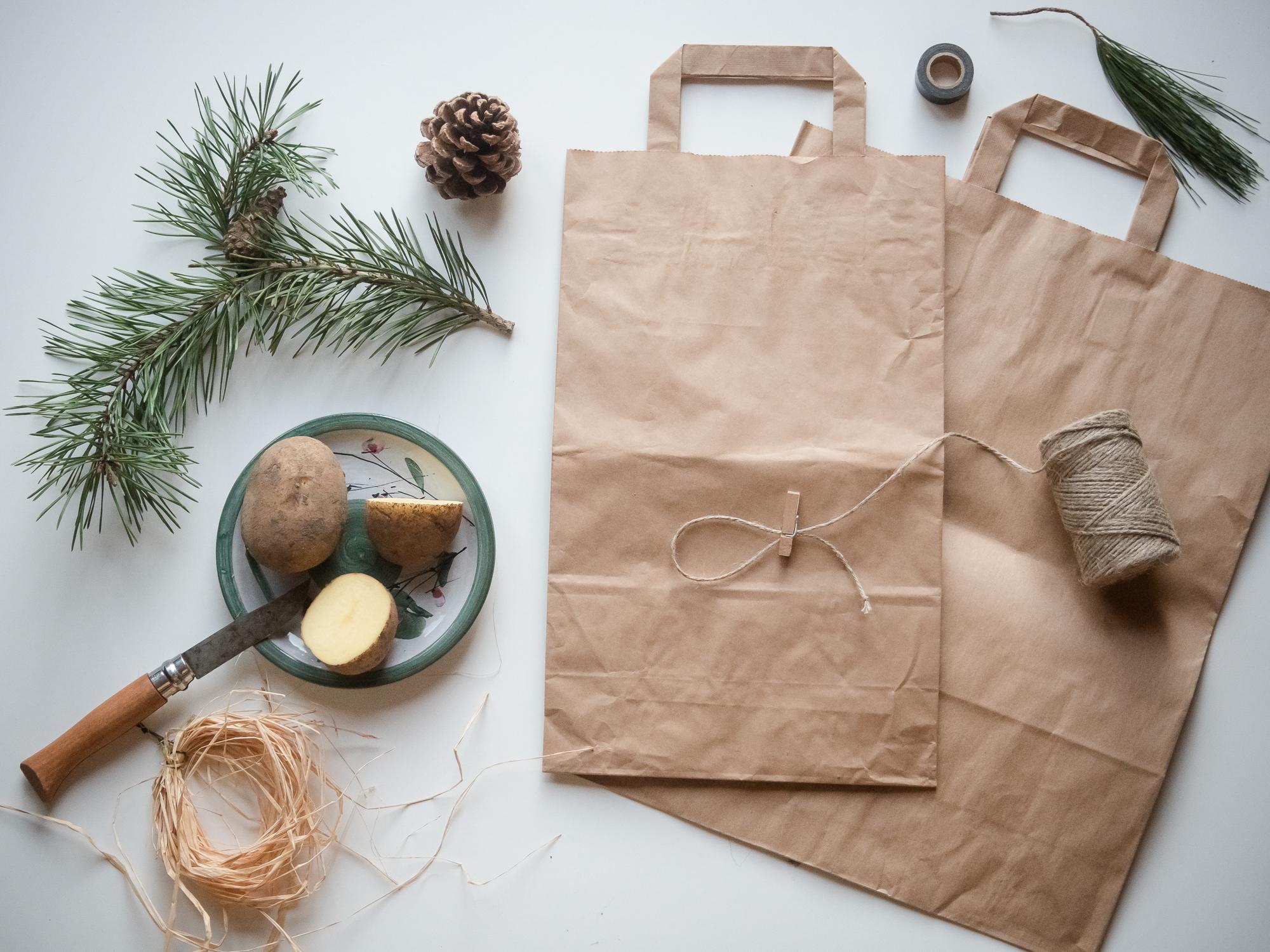 DIY christmas giftbags & gifttags