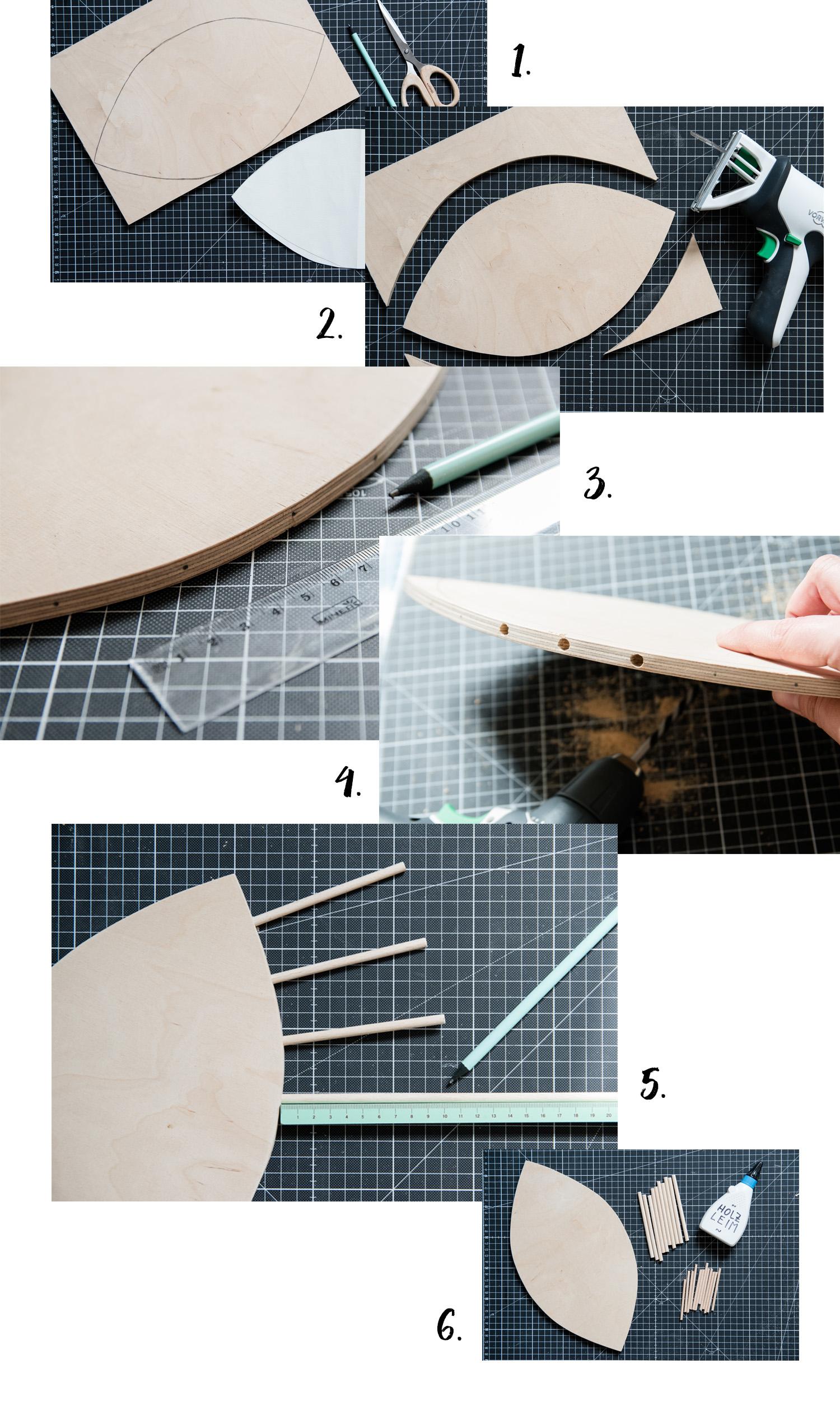 DIY Wandspiegel in Augenform - www.craftifair.com