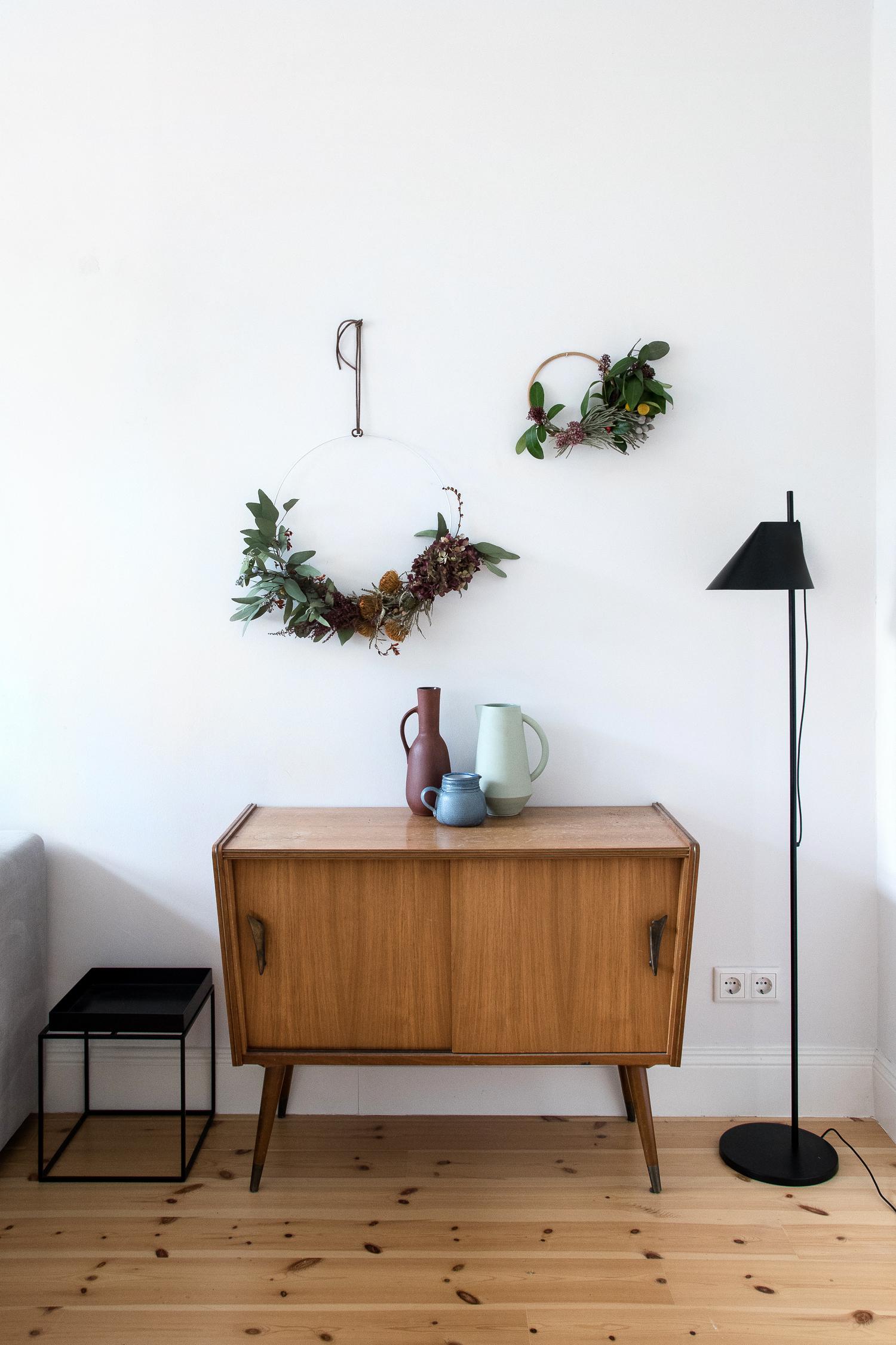 DIY Herbstkranz aus Blumenresten