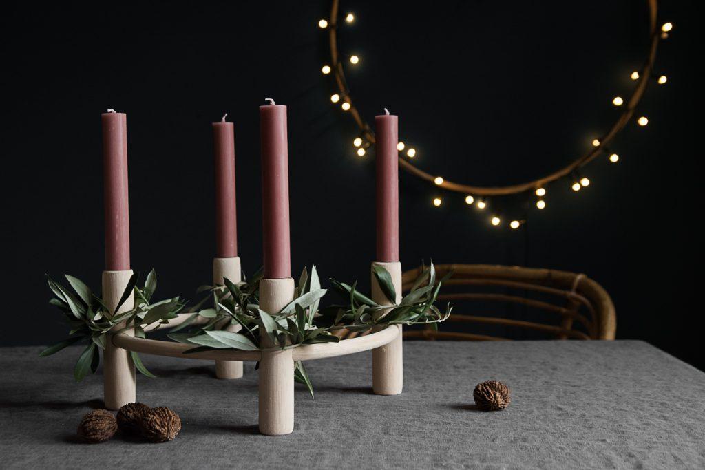 Ein kerzenständer u2013 drei adventskränze craftifair