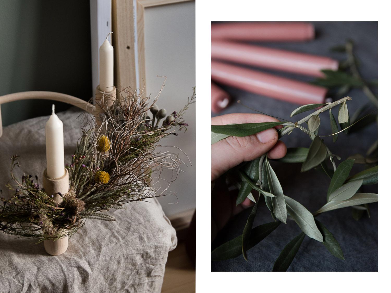 Adventskranz selber machen: Ein Kerzenständer, drei Varianten