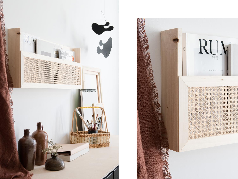 DIY Magazinhalter aus Holz mit Wiener Geflecht | craftifair