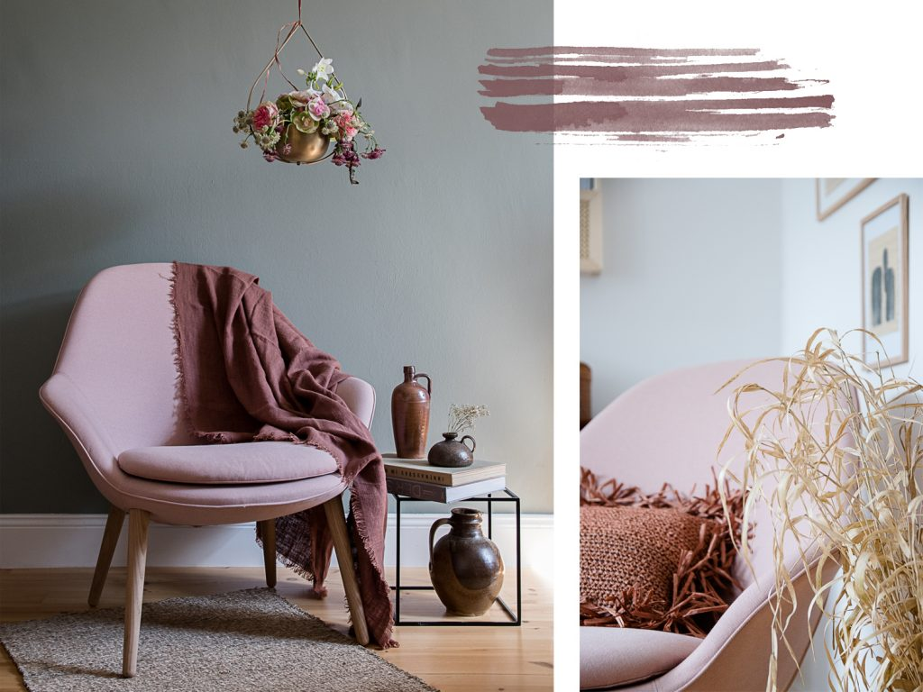 Drei Einrichtungsideen für den Adelaide Sessel in rosa von BoConcept