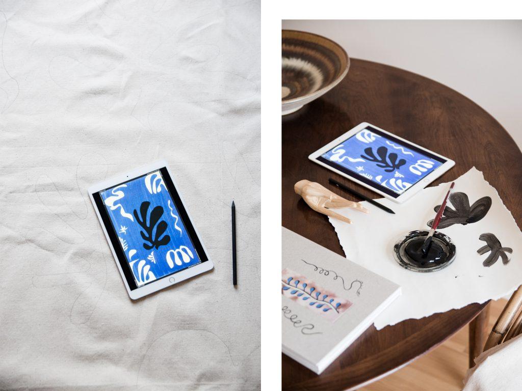 DIY Matisse inspirierte Picknickdecke