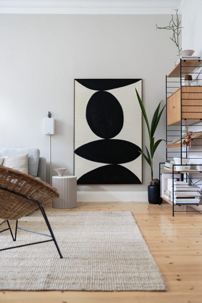 Neue Wandfarbe im Wohnzimmer von Alpina Feine Farben