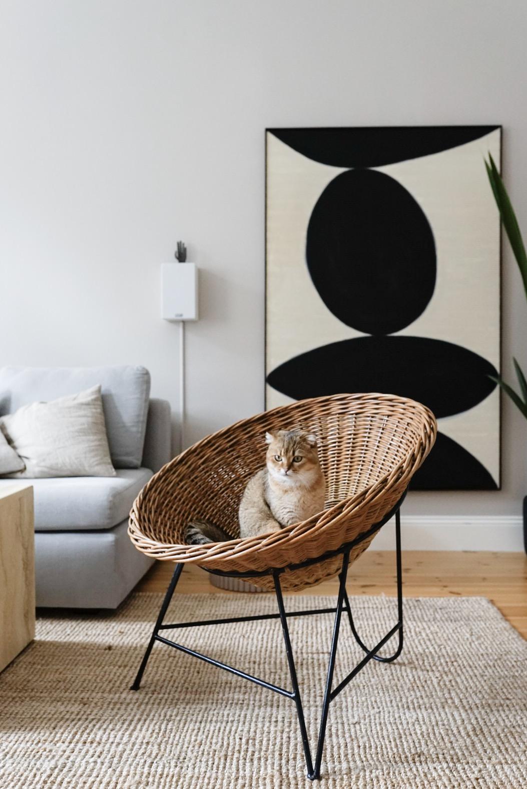 Neue Wandfarbe im Wohnzimmer