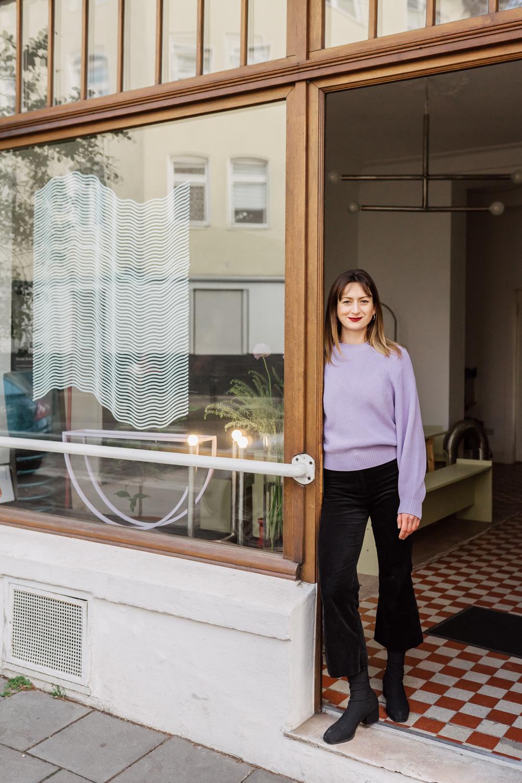Hannah Kuhlmann im Studio